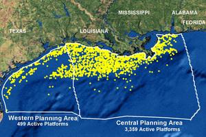 залив карта oil Platforms